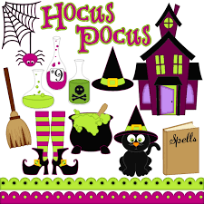 hocus pocus digital clipart set of 15 potions haunted house