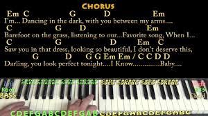 ed sheeran perfect chord original perfect ed sheeran piano cover lesson in g with chords lyrics