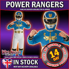 fancy dress costume child s power ranger blue med age 5 6