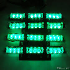 4 x 9 led white green blue color cars truck led flash