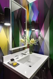 Small Bathroom Wallpaper Ideas Colors Bold Colour Choices By Ann Lowengart Desire To Inspire