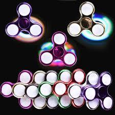 cool led light fidget spinner chrome batman hand spinnrs toys