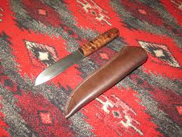 last one metis trade knife with sheath hand forged from 1095 high