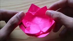 cara membuat origami bunga yang indah cara membuat bunga teratai dari origami mudah tapi indah origami