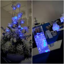 blue centerpieces 5 ideas for led light centerpieces wedding bar bat mitzvah
