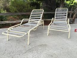 pair of modern finkel aluminum patio furniture straps chaise