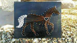 Horse Decor For The Home Horse Lover Horse String Art Cowgirl String Art Idealpin