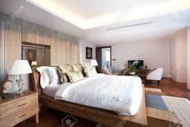 chambre de luxe avec design d intérieur de luxe dans la villa de la chambre de la piscine