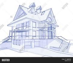 how to blueprints for a house 3d blueprint house vector vector photo bigstock