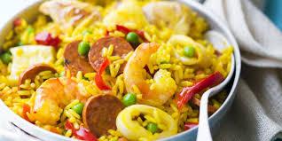 recette de cuisine facile et rapide paëlla facile et rapide recettes femme actuelle