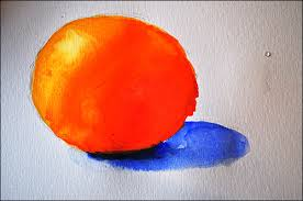 how to paint an orange using the u201ccolor wheel method u201d of painting