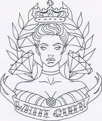 white queen tattoo design by thedanika on deviantart