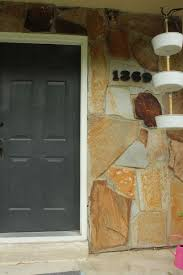 Install Heavy Duty Shelf Brackets In Concrete The Homy Design - how to mount modern house numbers on a rock face