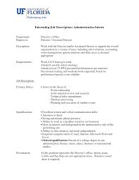 Firefighter Job Description Resume by Intern Responsibilities Resume Free Resume Example And Writing