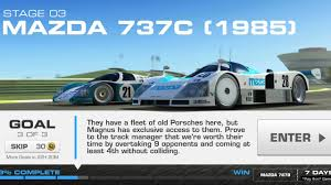 mazad car real racing 3 path of defiance stage 3 3 of 3 mazda 787b youtube