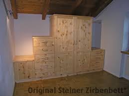 Schlafzimmer Zirbe Steiner Zirbenholz Schlafzimmerschrank 5 Teilig Tueren Schublaeden Jpg