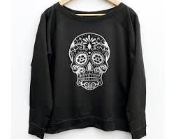 skull sweater sugar skull sweater etsy