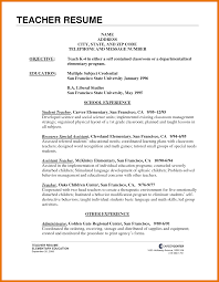 resume templates for teaching jobs resume samples for it jobs
