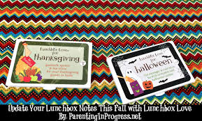 update your lunchbox notes this fall with lunchbox love