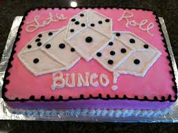 bunco party bunco party cake cakecentral