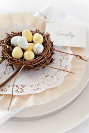 Table Setting Cards - decorating easter place cards and napkin ring ideas walking on