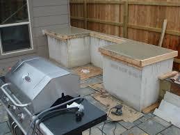 outdoor kitchen countertop ideas concrete outdoor kitchen garden design