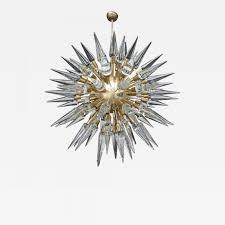 sputnik chandelier pair of italian sputnik chandeliers with cone shaped glass pieces
