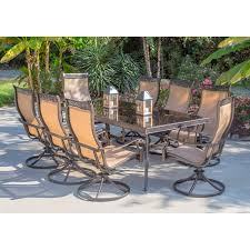 Hampton Bay Pembrey 7 Piece Patio Dining Set - 9 piece patio dining set lauderdale 9piece wood square patio