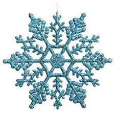 club pack of 24 turquoise blue glitter snowflake