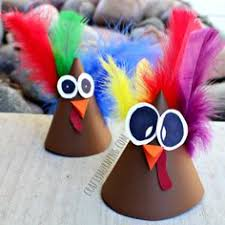 Hand Crafts For Kids To Make - turkey cone craft for kids to make party hat idea thanksgiving