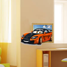 Kid Room Wall Decals by 3d Kids Room Decoration Sports Car Wall Decals Boys Room Removable