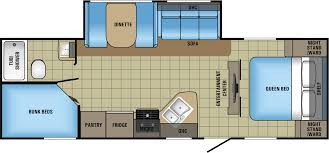 Jayco Travel Trailers Floor Plans by 2017 Jayco Jay Feather 25bh Model