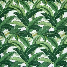 Tropical Upholstery B5471 Emerald Fabric Palm Costal Tropical Beach Hawaii