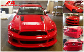 2013 ford mustang gt parts apr performance bringing widebody mustang to sema stangtv