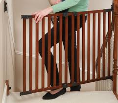 Safety Gate For Top Of Stairs With Banister Angle Mount Wood Safeway
