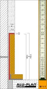 flush baseboard baseboards for wood lamination inserts alu plan europe