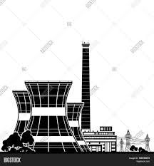 silhouette nuclear power plant image u0026 photo bigstock
