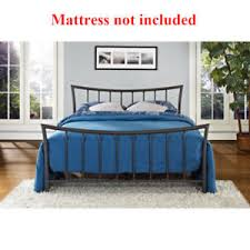 Metal Bed Frame No Boxspring Needed Size Metal Bed Frame No Boxspring Needed Bronze Platform