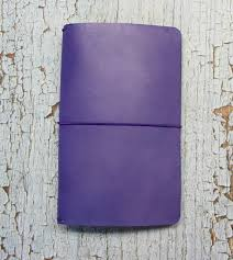 Midori travelers notebook fauxdori purple field note