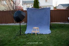 Backyard Photography Studio How To Create Simple Studio Style Portraits In Your Own