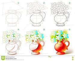 How To Draw A Vase Of Flowers Pictures Image Of Drawing Flower Vase With Flower Drawing Art