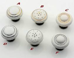 porcelain kitchen cabinet knobs porcelain knobs etsy
