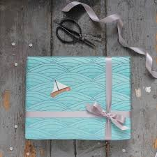 ocean wrapping paper sailing boat gift wrap sea japanese style