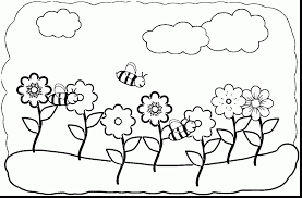 amazing spring coloring pages with spring coloring page