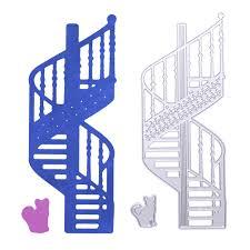 online shop spiral stairs cat metal cutting dies stencils for diy