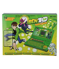 param ben 10 english learning computer green colour 1101e