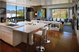 open plan kitchens for those who do not intend to actively use the