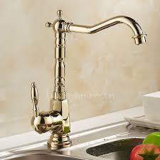 kitchen faucet brass antique golden rotate european style brass kitchen faucets