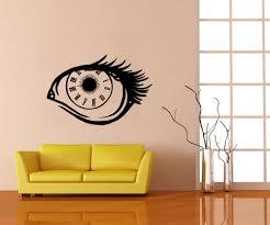 vinyl wall decal sticker eye clock os mb696
