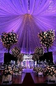 Ceiling Drapes For Wedding Royal Purple Wedding Décor Tips Decorazilla Design Blog